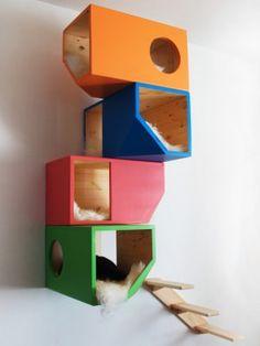 Árbol para Gatos de Diseño Colores - katsdoks                                                                                                                                                                                 Más