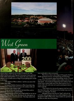 """Athena Yearbook, 2004 """"Since West Green is so close to most of the athletic facilities such as the Ping and Convocation Centers and many of the outdoor playing fields it is no surprise that many of the residents are athletes or try to remain active at Ping or by just playing sport outside on the lawn."""" :: Ohio University Archives"""