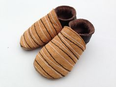 Barkcloth Baby shoes - Handstitched
