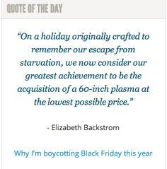 Why I'm boycotting Black Friday this year: http://spokanefavs.com/2013/11/25/boycotting-black-friday-year/