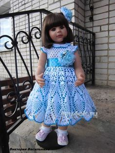 Ideas For Crochet Baby Patterns Outfits Doll Clothes Crochet Dress Girl, Crochet Baby Dress Pattern, Baby Girl Dress Patterns, Baby Girl Crochet, Baby Girl Dresses, Baby Patterns, Baby Doll Clothes, Crochet Doll Clothes, Dress Clothes
