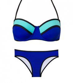 Beach Joy Color Block Bustier ($35) and Bottoms ($35)