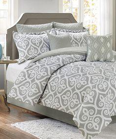 Loving this Gray Hamilton Seven-Piece Oversize Comforter Set on #zulily! #zulilyfinds