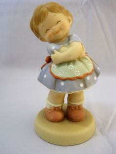 Enesco Memories of Yesterday Figurine You Brighten My Day With A Smile 1994 Enesco Figurines, Lace Skull, Precious Moments, Globe, In This Moment, Memories, Smile, Cute, Ebay