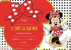 Invitații petreceri copii - BluParty Drag, Mickey Minnie Mouse, Classroom Themes, Color Trends, Disney Characters, Fictional Characters, Alice, Scrapbook, Birthday