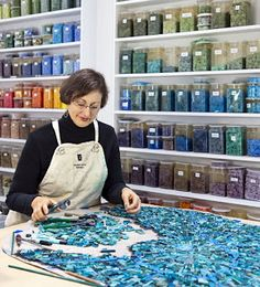 Awesome Mosaic Artist, Sonia King ~ awesome studio