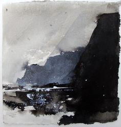 David Ross - Creagan Dubh (ink on Khadi paper)