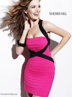 Sexy Hot Pink Cocktail Dress  Angee&39s Wedding ❤  Pinterest ...