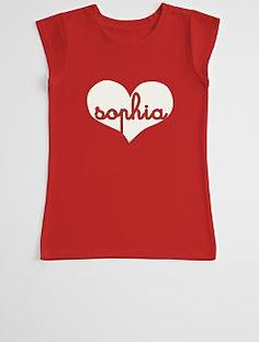 script heart girl's t-shirt