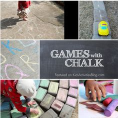 Love these 8 Unique Games With Chalk - makes me want to go outside right now!