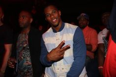 Giants star WR Victor Cruz showing our camera crew some love at uSTADIUM's #DraftPartyNYC