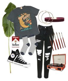 """""""groovy chick"""" by halasmoon on Polyvore featuring Topshop, Converse, Levi's, Accessorize, Vanessa Mooney and Dot & Bo"""
