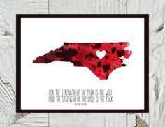 North Carolina State NC State Wolfpack Print by CraftandCandor on Etsy, $10.00