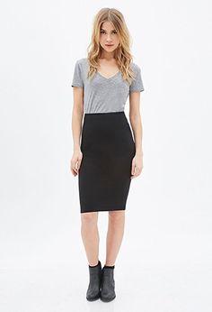Knit Pencil Skirt   Forever21 - 2000136602