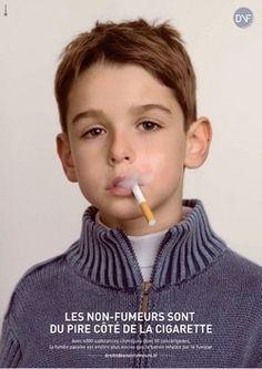 En 2008, DNF, en collaboration avec BDDP, avait sorti une première campagne « Tabagisme passif ». Les visuels de cette campagne ont été primés par deux fois lors du grand prix de la communication solidaire. #tabagisme #smoking  #pub