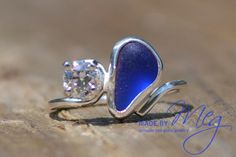 sea glass wedding rings - Google Search  MadebyMeg