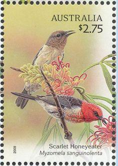 Australia bird stamp - 2009