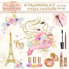 Paris Clipart, Paris Fashion, Paris Printable, Paris Png, Paris Scrapbook, Eiffel Tower,   Digital Paris, Paris Clip Art, Scrapbook Paris