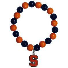 Syracuse Orange Fan Bead Bracelet CFBB62