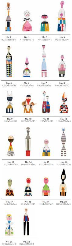 Vitra Wooden Dolls by Alexander Girard, 1963 - Designer furniture by smow.com