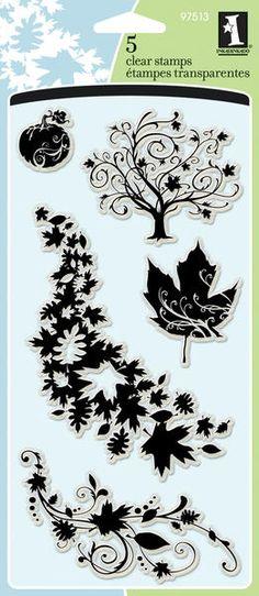 "Inkadinkado Clear Stamps, 4"" X 8"" Sheet - Fall Season $8.49"