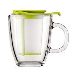 Tasse Bodum : Yo-Yo Set Mug avec Filtre Rouge 30 cl - à l'unité Tea Strainer, Tea Infuser, Coffee Server, Cheap Coffee, Red Mug, Glass Teapot, Green Mugs, Coffee Accessories, Tea Sets