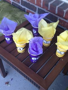 Purple and Yellow Minion Party Favor Cups by AEinspirations, $7.00