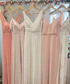 We really are feeling peachy for spring! Colors are Apricot, Blush, Ivory Gold, Peaches & Cream, and Spring Fling. Pink Bridesmaid Dresses Short, Bridesmaid Dress Colors, Bridesmaids, Neutral Wedding Colors, Blush Gown, Cream Wedding, Blush Pink Weddings, Peaches, Just In Case