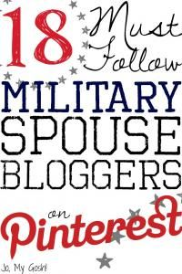 18 Must Follow Military Spouse Bloggers on Pinterest