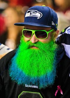 Seattle Seahawks fan...would you dye your hair for your team?