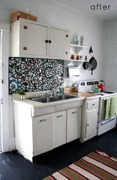 DIY Mosaic backsplash