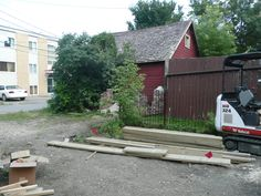 clearing of the backyard and removal of current fence