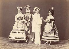 Countess Hanna Erdödy,  Count E. de Waldner,  Baron Gaston de Noirmont,  Countess Saint Julien