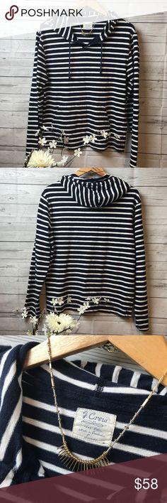 J Crew Striped Hoodie! Sz S J Crew Striped Hoodie! Sz S J.Crew Tops Sweatshirts & Hoodies