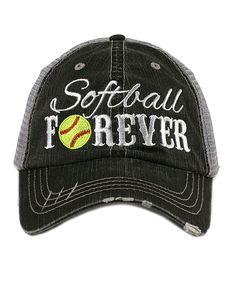 Gray 'Softball Forever' Trucker Hat