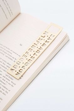 Brass Alphabet Template Bookmark - Urban Outfitters