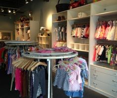 Around the Rosy, a children's clothing re-sale boutique in Westport, CT, buys and sells gently used kids togs.