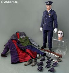 Batman - The Dark Knight: Joker Policeman, Fertig-Modell, http://spaceart.de/produkte/bm032.php