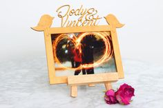 Customised photo frame by WoodieDesign on Etsy Custom Photo Frames, Instagram Accounts, Custom Design, Etsy Shop, Handmade Gifts, Vintage, Home Decor, Kid Craft Gifts, Decoration Home