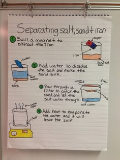Miller's Science Space: Separating Salt, Sand, Iron Anchor Chart