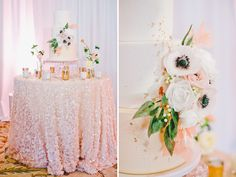 sequin tablecloth cake table ----- this is it!!! what mine will look like!