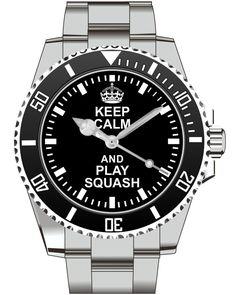 Keep Calm and play Squash Watch -Men Watch Jewelry Squash Gift Present for Men- Watch 2051 von UHR63 auf Etsy