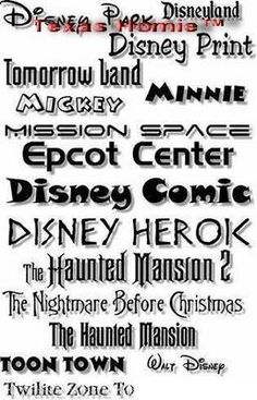 Amazing Disney Print Fonts Collection - carry-go.overblog.com #Disney