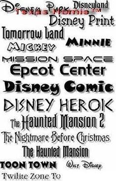 Amazing Disney Print Fonts Collection - carry-go.overblog.com #Disney