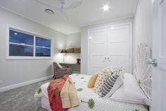 See inside the Brisbane Hamptons-style display home by Garth Chapman Queenslanders. Timber Ceiling, Timber Walls, Timber Flooring, Hamptons Style Homes, Hamptons House, The Hamptons, Living Area, Living Spaces, Living Room