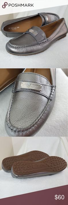 c0befdbc3186 Coach Silver Frederica loafers size 8.5 These silver Coach Frederica Loafers  are NWOT with silver plating