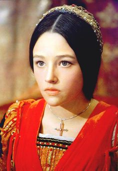 """Olivia Hussey starring in William Skakespeare's """"Romeo and Juliet"""", 1968."""