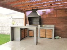 Outdoor Decor, House Design, House, Custom Grill, Modern House, Deco, Patio Design, Exterior, Outdoor Kitchen