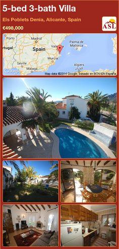 5-bed 3-bath Villa in Els Poblets Denia, Alicante, Spain ►€498,000 #PropertyForSaleInSpain