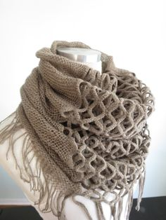 Infinity Woman Scarf-Accessories-Fancy Scarf-Neck Scarf-Knitting -Super Soft. $9.99, via Etsy.